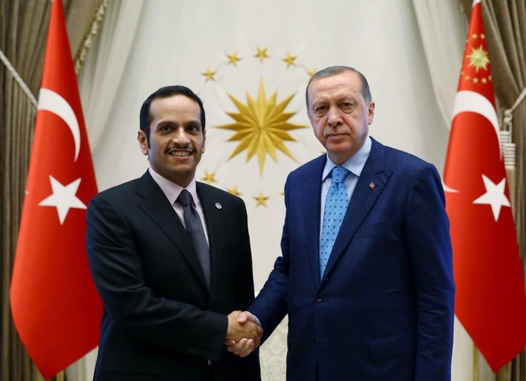 Turkey-Erdogan and Qatar's Foreign Minister