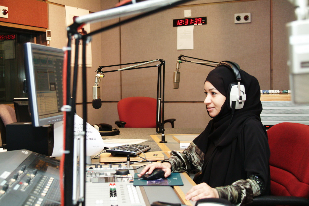 UAE media Emirati DJ at Dubai Radio Network