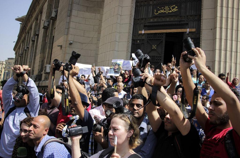 press in egypt protest