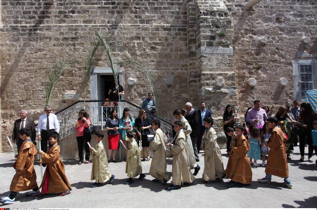 Christians in Gaza Palm Sunday 2016