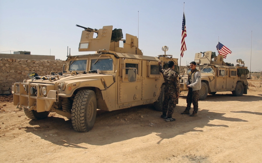 Specials-international affairs- SDF and US troops in Aleppo