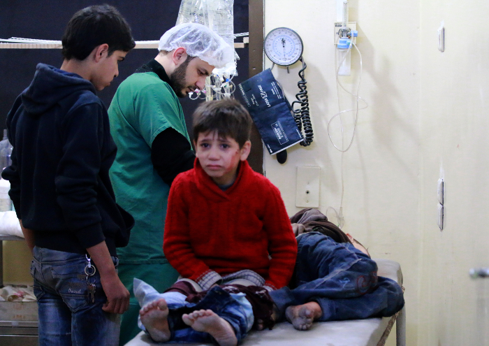 aleppo syrian civil war wounded children