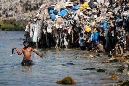 pollution in Lebanon rubbish dump in Sidon