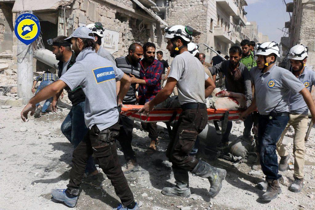 الخوذ البيضاء في سوريا في الحلب