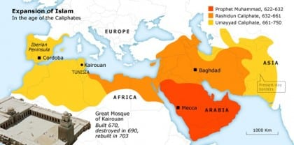 the coming of islam tunisia history map 01