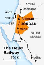 the hejaz railway Jordan hejaz railway map 150 01