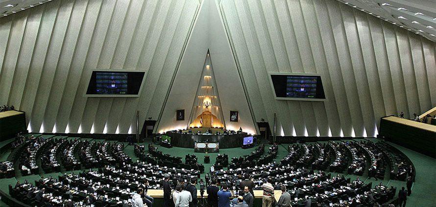 President Mahmoud Ahmadinejad in the Islamic Consultative Assembly, the Iranian Parliament