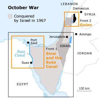 the october war of 1973 October war map 318 01