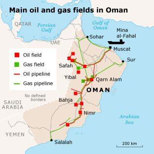 the oil era Oman oilgas map 01 1