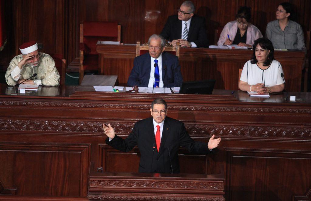 tunisia Habbib Essid parliament vote